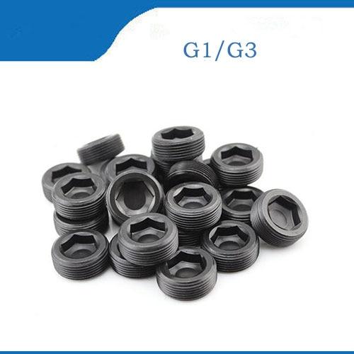 G1/8/16/4 1/8 Inch 12.9 Grade Carbon Steel BSP Pipe Oil Line Plug Throat Tap Stop Hex Hexagon Socket Set Screw g 1 1 4 11 tpi bsp parallel british standard pipe tap
