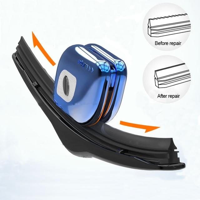 Limpiaparabrisas coche herramienta de reparación de parabrisas tira de goma parabrisas hoja restaurador con llavero hueso limpiaparabrisas de coche-estilo de accesorios