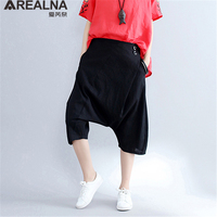 AREALNA Fashion Dancing Trousers For Women 2017 New Summer Autumn Vintage Women S Cotton Linen Stretch