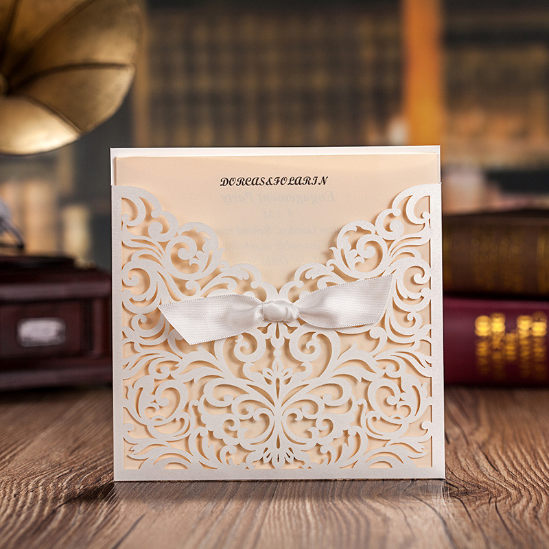 Floral Wedding Card Manufacturer From Hosur: Popular Lace Invitation Pocket-Buy Cheap Lace Invitation