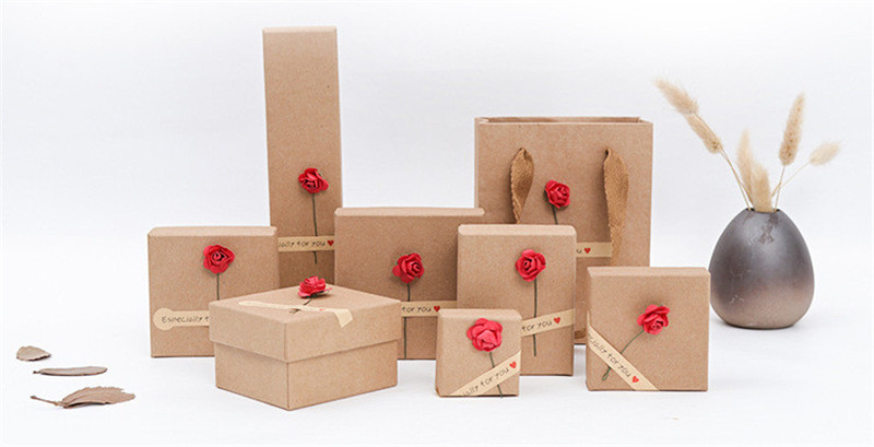Jewelry Boxes For Rings Earrings Rose Sunflower Beautiful Gift Boxes 5cm Diameter Packaging