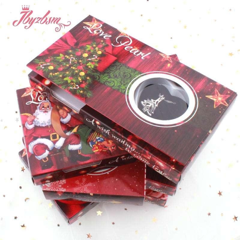 Perla de agua dulce Natural deseo Boxe collar Popular caja de regalo caja de ostras Natural caja de joyería DIY caja de regalo de Navidad para mujer