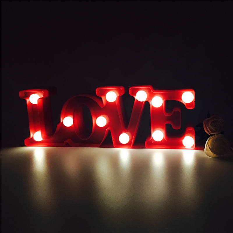 AKDSteel Marquee Letter Lights Led Word Table Lamp LOVE Alphabet LED Letter Nightlights Light up Letters Illuminated Home Decor