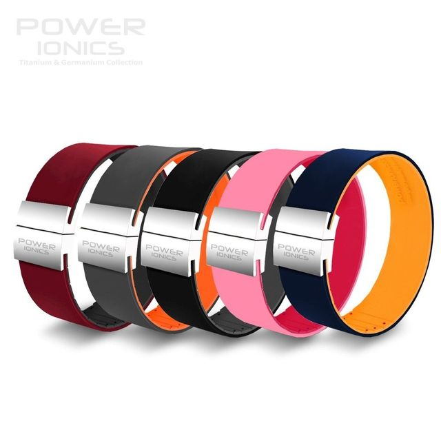Güç İyonik Unisex yeni bir 3000 iyonlar moda ayarlanabilir İnce titanyum bilezik bileklik