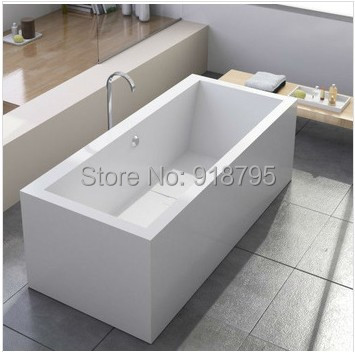 1800x800x610mm Solid Surface Stone CUPC Approval Bathtub Rectangular Freestanding Corian Matt Or Glossy Finishing Tub RS6541