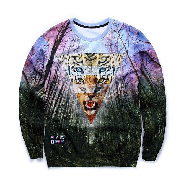 d477aed70924 2017 Autumn New Style Men Sweatshirt Long Sleeve Tiger Tree and Cute Cat  Print 3d Hoodies Men Fashion Brand Funny Men Hoodie
