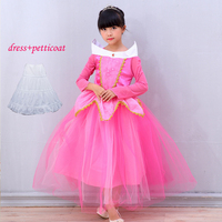 New 2016 Children Kids Baby Girl Cosplay Dresses Sleeping Beauty Princess Costumes Wear Perform Party Dresses