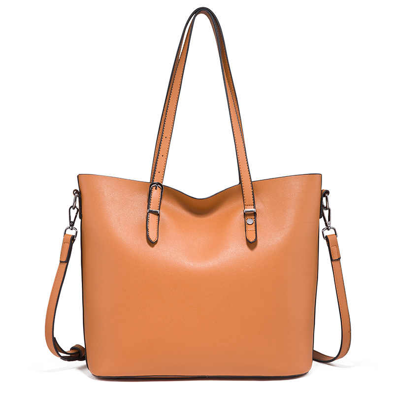 Bolsa de moda 2019 Mulheres Novo Saco De Couro bolsa de Ombro Grande Capacidade Sacos de Lona Ocasional Simples Top-handle Tote Sacos de Mão bolsa C758