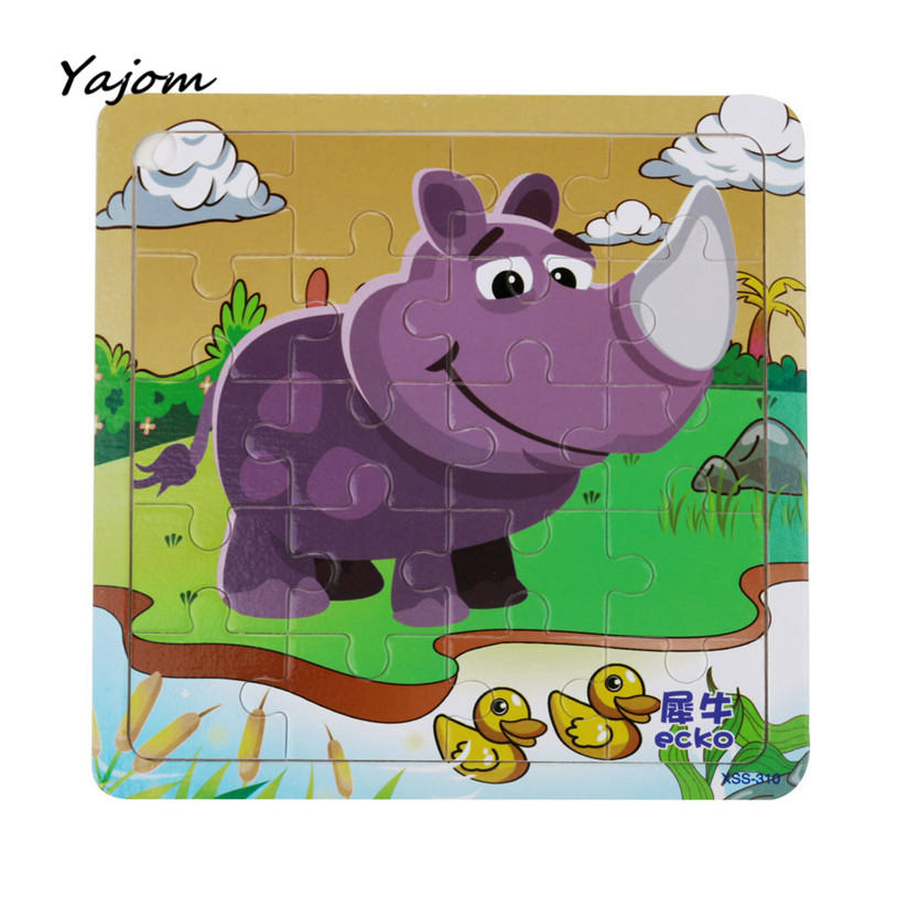 Puzzle toys Childrens Wooden Puzzle Educational Developmental Baby Kids Training Toy Brand New High Quality May 19