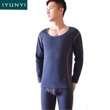 IYUNYI Men Thermal Underwear Sets High Quality Autumn Winter Warm Long Johns Plus Thick Velvet Thermo
