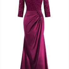 Недорогие вечерние платья, платья для матери невесты, кружевное длинное вечернее платье с открытой спиной, большие размеры