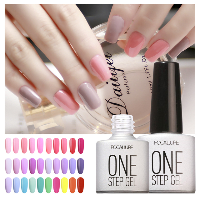 FOCALLURE FA One Step Gel Long Lasting Nail Gel Art Easy to Wear ...