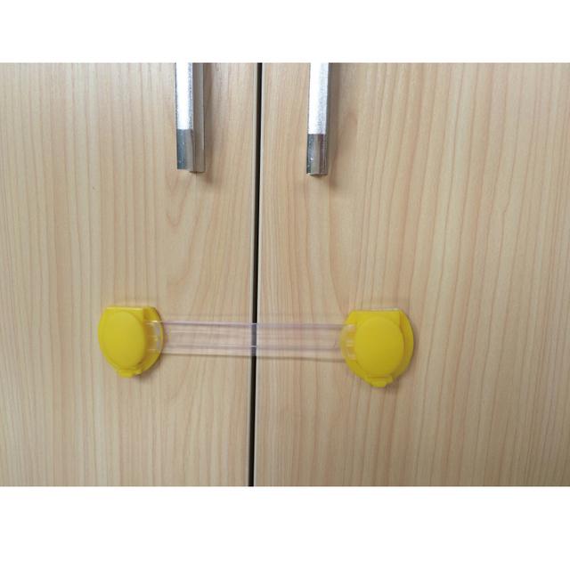 6 unids por bolsa multiusos puerta de seguridad para niños de bloqueo de gabinete