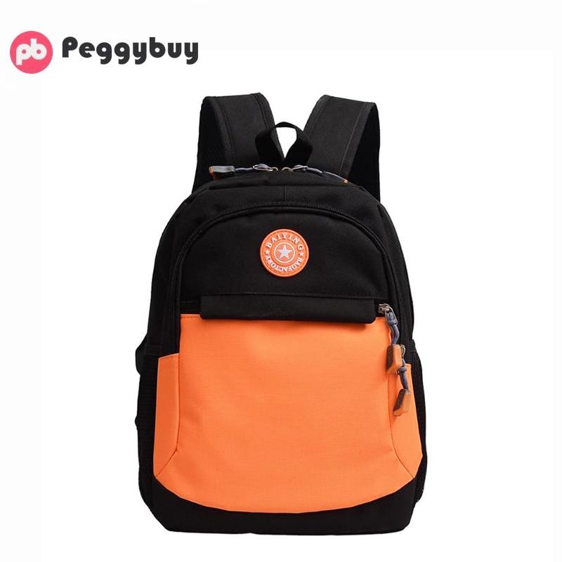 Travel Backpacks Rucksack Adolescent Nylon Large Fashion Children Splicing-Color Kids