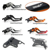 Motorcycle Brake lever Aluminum Adjustable Foldable Extendable Clutch Brake Lever For KTM 790 DUKE 2018 UP With DUKE Logo
