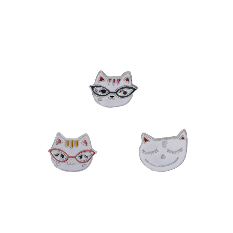 1pc Cheap Cute Little Cat With Sungalsses Brooch Button Pins Denim Jacket Pin Badge Badge Collar Jewelry Gift For Kids Up-To-Date Styling Apparel Sewing & Fabric
