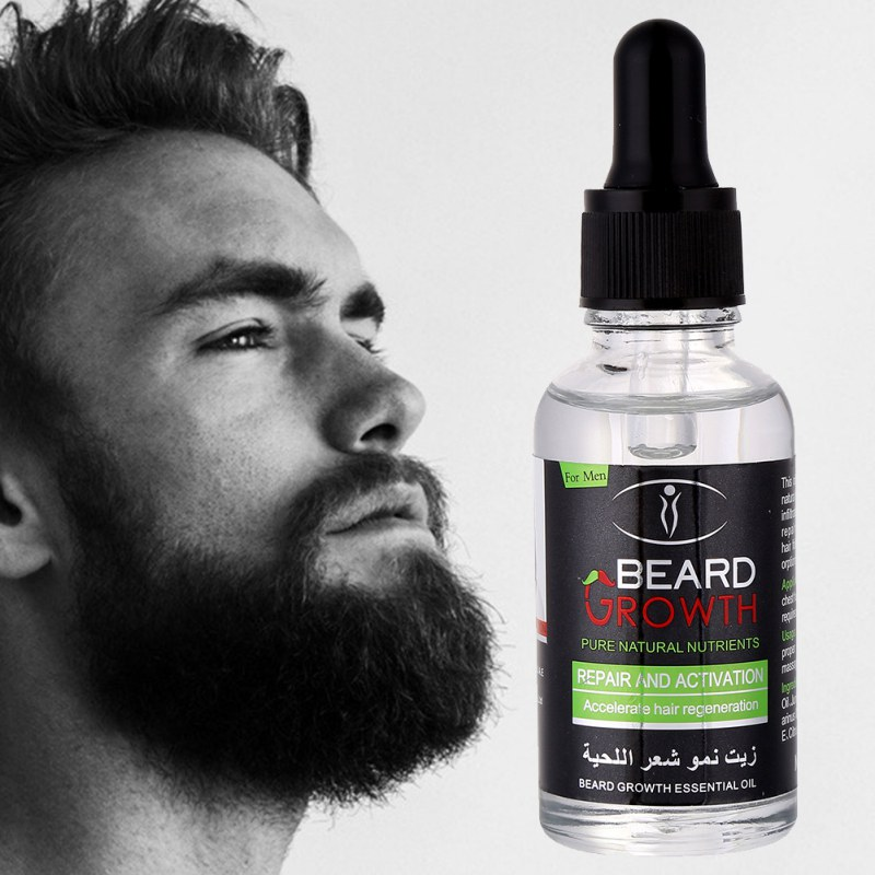 100 Natural Organic Men Beard Growth Oil Beard Wax balm Hair Loss Products Leave In Conditioner for Groomed Beard 30ml in Hair Loss Products from Beauty Health