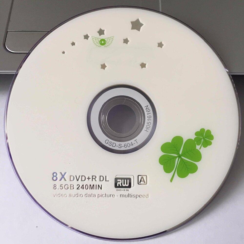 Disco impresso de trevo branco, disco de grau a x8 8.5 gb de 10 discos