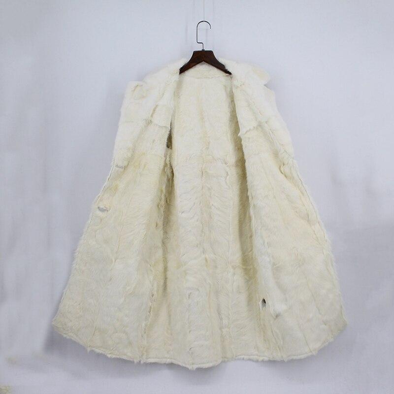 Col Femmes D'agneau Manteau 2018 Intérieur Beige Automne Vison De Moutons Laine Chaud Milieu Femelle Veste Réel Fourrure Karakul Nouveau Outwear Long q0qvwPY