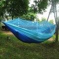 Portable De Alta Resistencia Tela de Paracaídas Hamaca Columpio Hamaca Para Dormir Cama Muebles de Jardín Al Aire Libre Recorrido Que Acampa de Supervivencia
