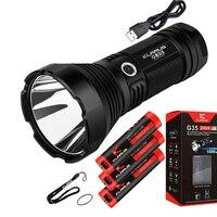 KLARUS G35 Torch XHP35 HI D4 LED 2000LM beam distance 1000 meter Flashlight + 3pcs Klarus 18650 batteries ,usb cable