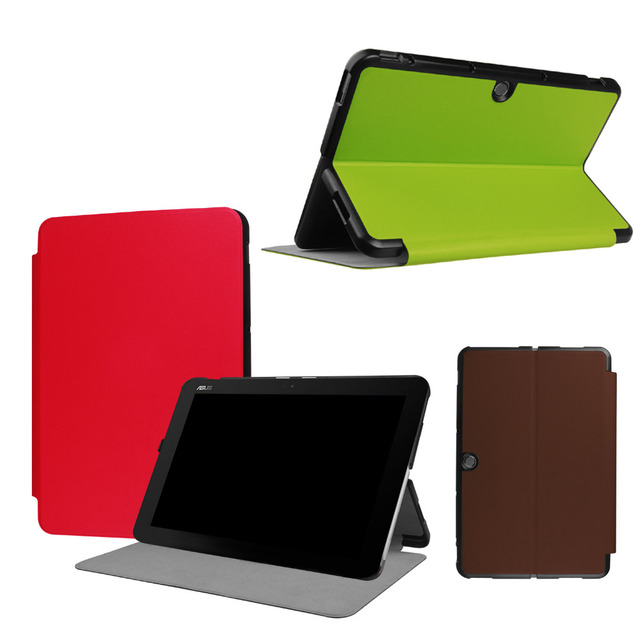 Ultra Slim Custer Folio Flip Stand PU Leather Magnetic Cover With Keyboard Station Case For ASUS Transformer Mini T102HA 10.1""