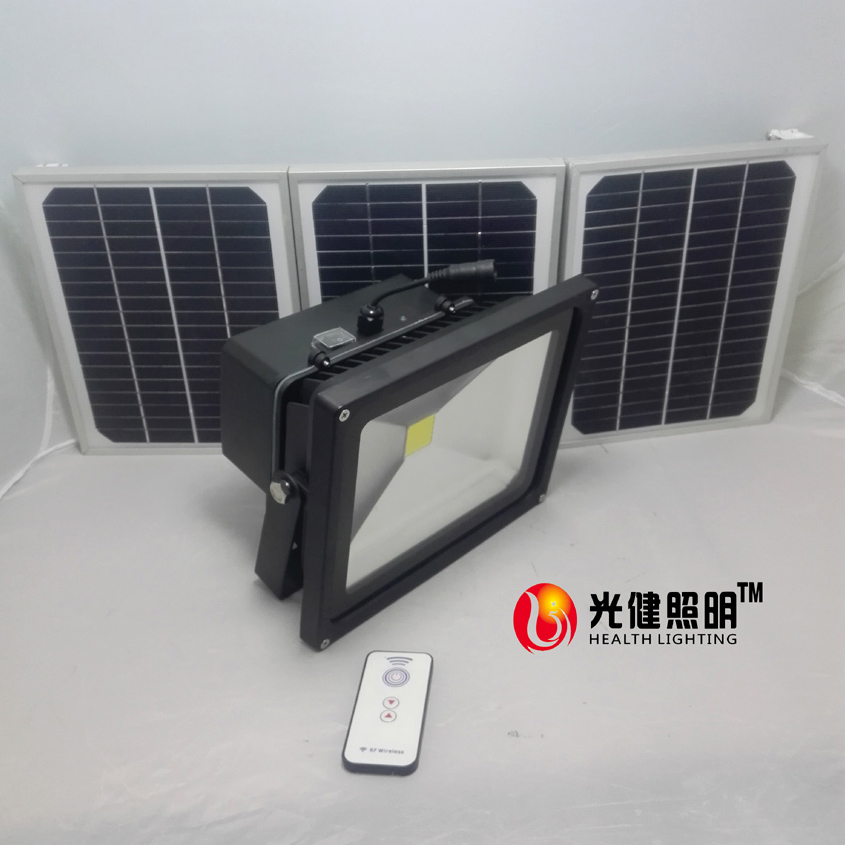 50W RF Remote Controller Solar LED Outdoor Flood Light Solar Lamp Garden Street dimming light
