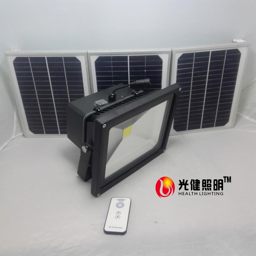 50W Solar Flood Light with 2.4G wireless remote control LED Projection lamp spotlight garden light outerdoor waterproof