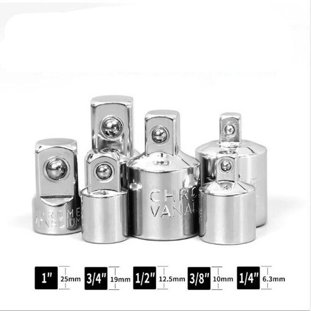 1/4 3/8 1/2 clé à cliquet adaptateur Chrome Vanadium acier manchon adaptateur clé-manchon Joint convertisseur tête outils à main