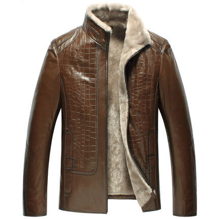 New pattern Fur one male Male leather Sheep skin jacket A short paragraph Men's clothing  WXN009