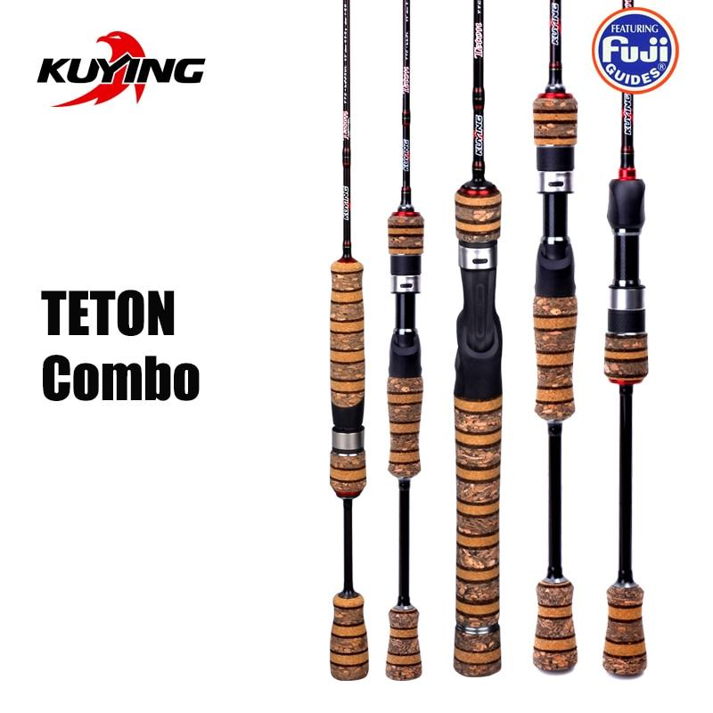 KUYING TETON 1,56 m 1,8 m 1,86 m 1,9 m 1,92 m 1,98 m Super Ultra suave de dos secciones de girando pesca Rod poste de Combo