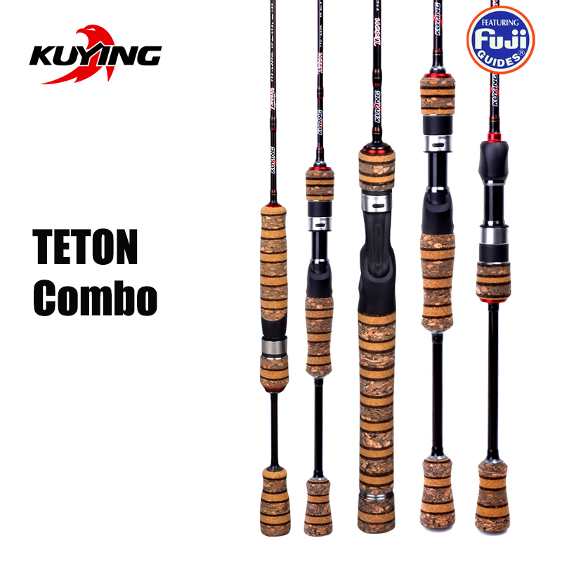 KUYING TETON 1.56m 1.8m 1.86m 1.9m 1.92m 1.98m Super Ultra Soft Light Baitcasting Casting Spinning Lure Fishing Rod Pole Combo