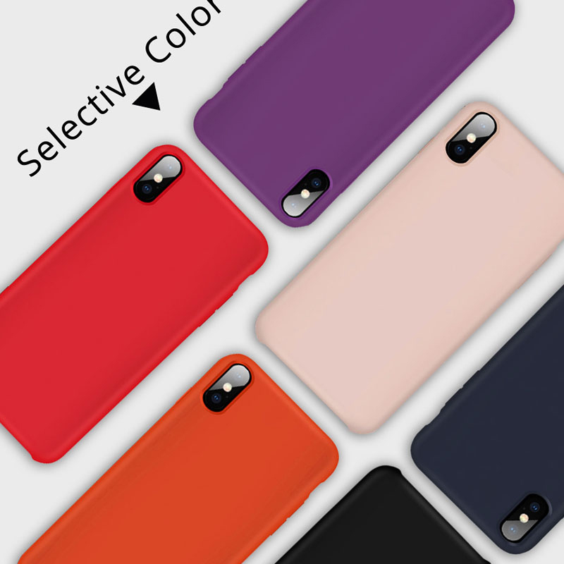100 PCS Official Silicone Case For iPhone 7 8 Plus Official Silicon Cover For iPhone X XR XS Max 6 6S Plus Phone Case Capa in Fitted Cases from Cellphones Telecommunications