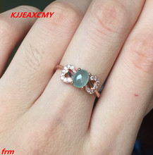 KJJEAXCMY Fine jewelry 925 sterling silver inlaid natural jade female ring wholesale and retail