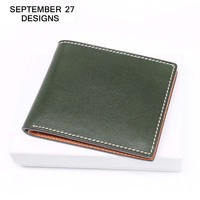 Men's Wallet Genuine Leather Luxury Brand Business Purses 100% Real Cow Leather Male Simple Bifold Wallet Credit/ID Card Holder