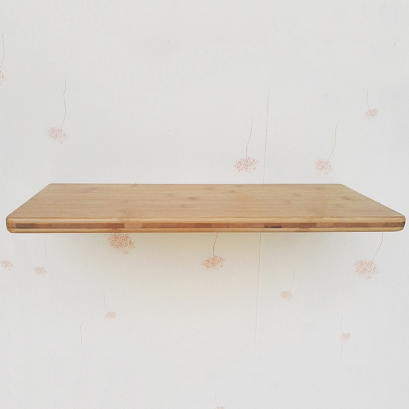 Space Saving Kitchen Storage Wall Shelf Bamboo Floating Wall Mounted ...