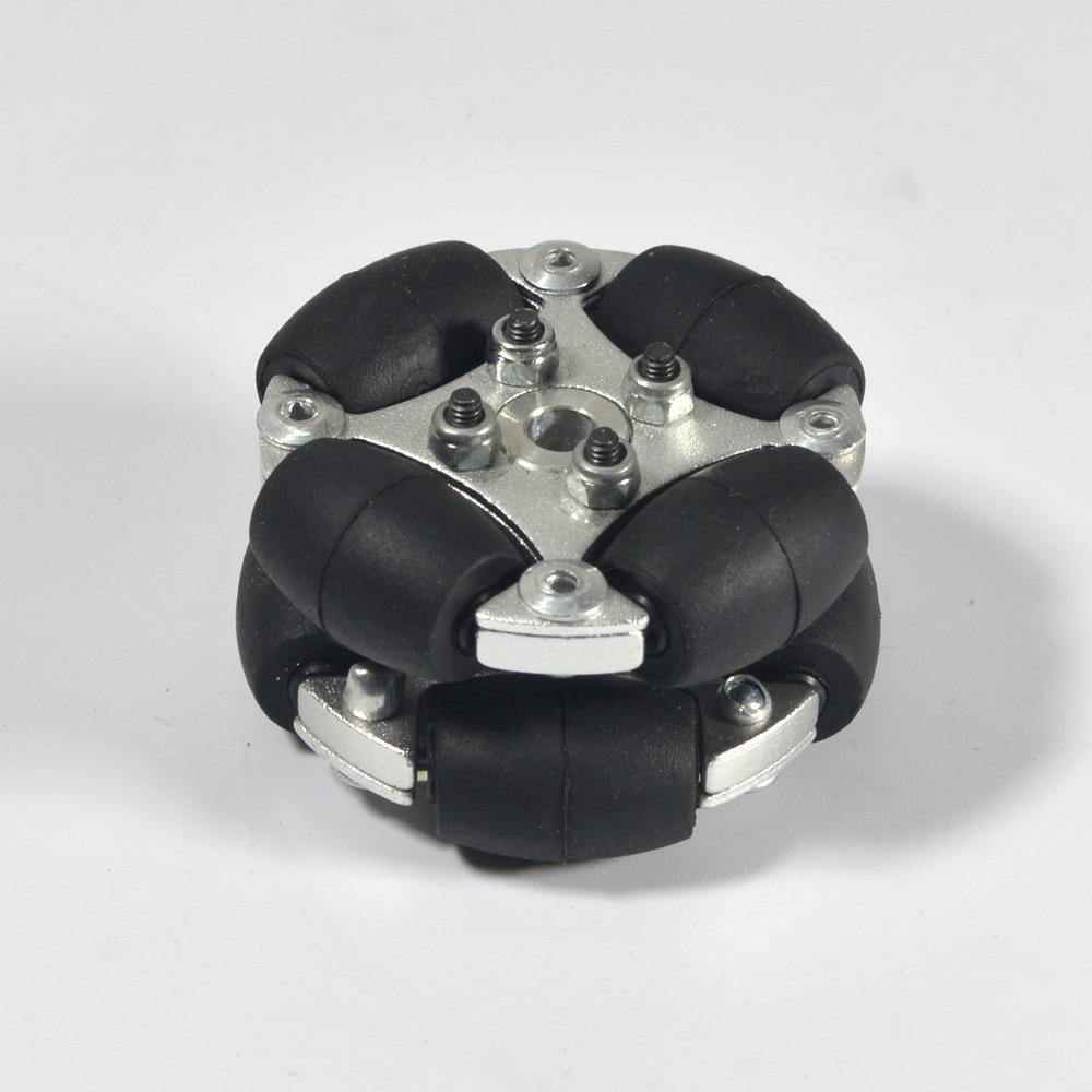 (1.5 Inch) 38mm Double Aluminum Omni Wheel W/metal Hubs 14166