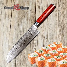 GRANDSHARP 7 Inch Santoku Knife 67 Layers Japanese Damascus Stainless Steel VG 10 Core Chef Knife