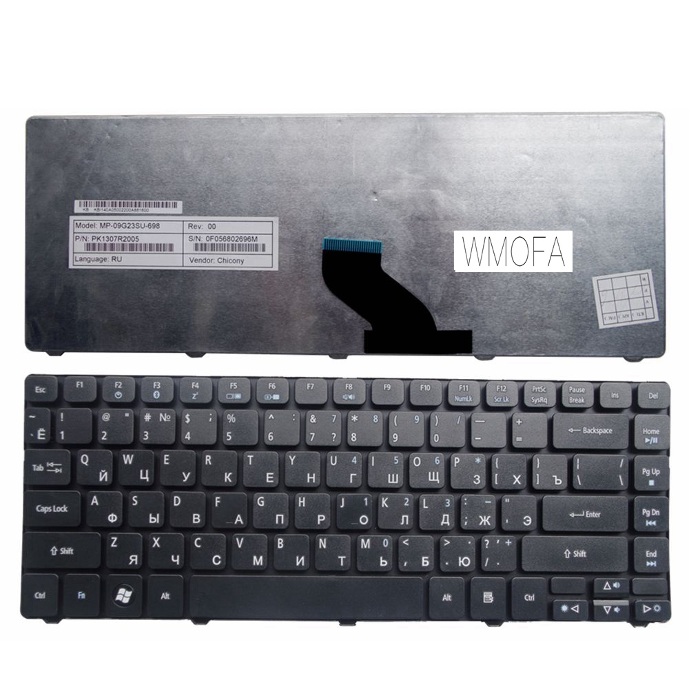 Russian New Keyboard for <font><b>Acer</b></font> 4733 4733Z 4735 4736 4736G 4535g 4736Z 4738 4738G 4738z 4810 4810T <font><b>4820T</b></font> 4935 4350 4350G RU image