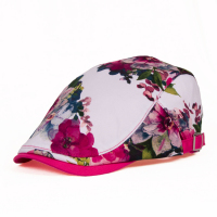 2018 Spring And Autumn Fashion Flower Patter Hat Women Casual Sweet Baseball Cap Korean Outdoor Leisure Sun Peaked Cap