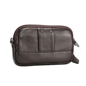 Image 4 - 100% جلد طبيعي الخصر حقيبة آيفون/سامسونج هاتف ذكي حقيبة كتف حزام الحقيبة ل أقل من 6.5 بوصة الهواتف المحمولة