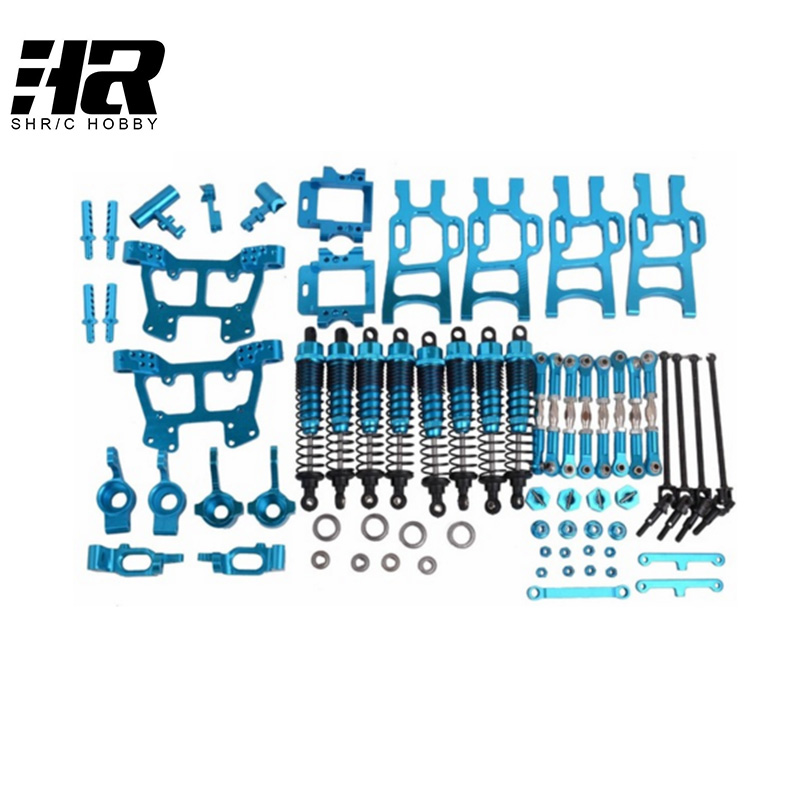 RC car 1/10 HSP monster truck 94111 94108 whole car metal upgrade kit 102010 102011 102012 102057 106017 108019 108022 108004 mxfans alloy front rear servo link gold upgrade for hsp rc1 10 truck 106017 set of 2