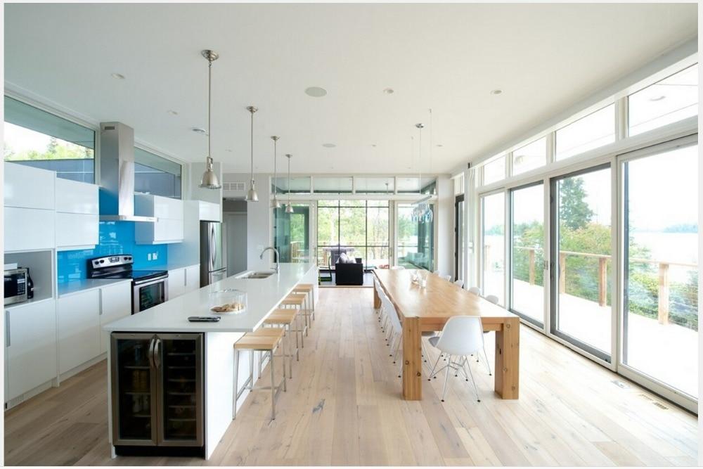 US $150.0 |2017 vendite calde popolare bianco laccato lucido mobili da  cucina modulare cucina ad isola cabient mobili da cucina su misura-in  Accessori ...
