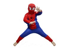 1Sets Halloween Costume Party Cosplay Clothes Kids Boys Spider Man Suit