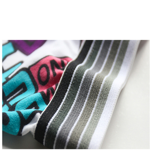 Image 5 - TEXIWAS 10Pcs/lot Fashion Silk Underwear Men  Cartoon Print Man Boxers Homme Comfortable Underpants Soft Breathable Male Panties