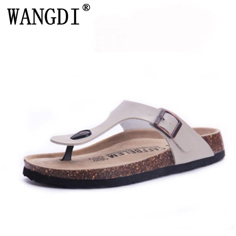 New Men Summer Sandals Cork Shoes Slippers Casual Shoes Mixed Colors Beach Slippers Flip Flops Flats Slides Plus Size 35-43