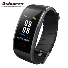 ASKMEER S7 Smart Wristband IP68 Waterproof Color Screen Smart Fitness Tracker Bracelet Heart Rate Health Bracelet