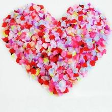 1000pcs Artificial Wedding Rose Petals Decorative Floral Polyester Roses Home Marriage Arrangement