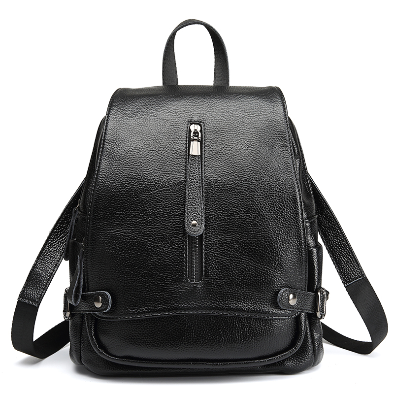 Backpacks Women Genuine Leather Backpack Large Capacity Female Waterproof School Backpacks for Girls ShoulderBag Fashion 2018hot рюкзаки zipit рюкзак shell backpacks