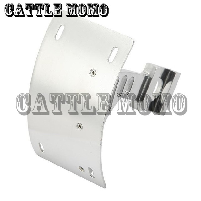 Curved Rear License Plate Frame Mount Motorcycle Tag Bracket For ...